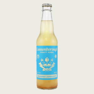 Cannonborough Grapefruit Elderflower Craft Soda 12oz Bottle