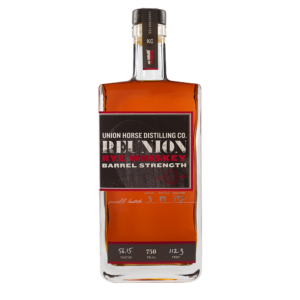Union Horse Distilling Barrel Strength Reunion Rye Whiskey 750ml Bottle