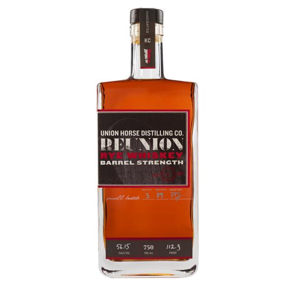 Union Horse Distilling Barrel Strength Reunion Rye Whiskey 750ml Bottle