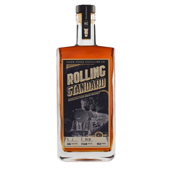 Union Horse Distilling Rolling Standard Midwestern Four Grain Whiskey 750ml Bottle
