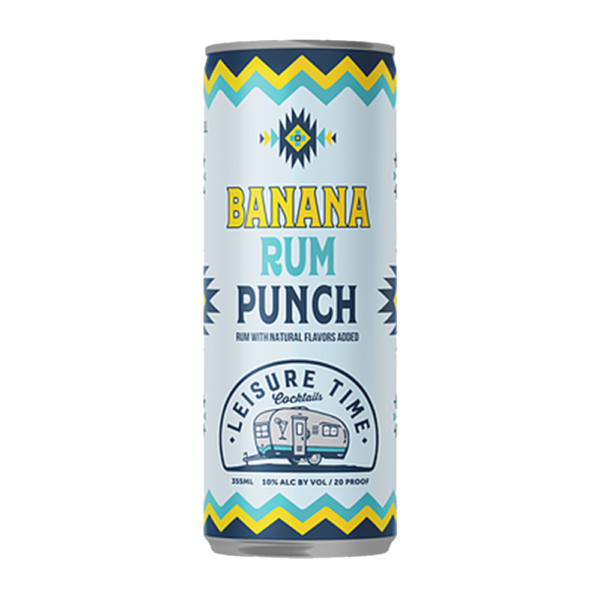 Leisure Time Cocktails Banana Rum Punch 350ml Can